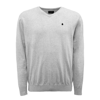 Adam Pullover V-hals Organic Cotton Smoke