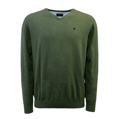 Adam Pullover V-hals Organic Cotton Pesto