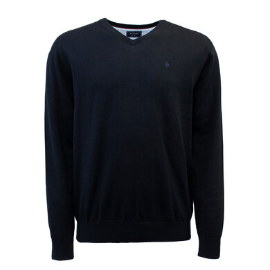 Adam Pullover V-hals Organic Cotton Black