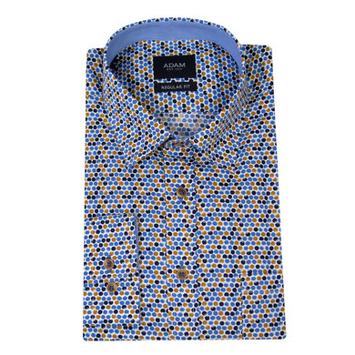 Adam Overhemd Casual Under Buttondown Stippenprint Multicolor