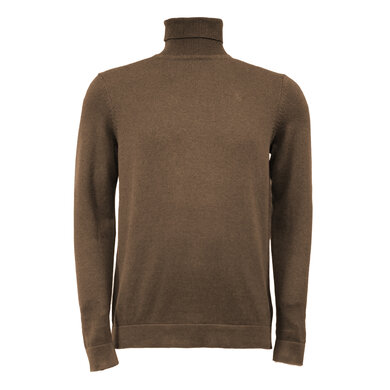 Eagle & Brown Turtleneck Trui Organic Cotton Bruin Bruin