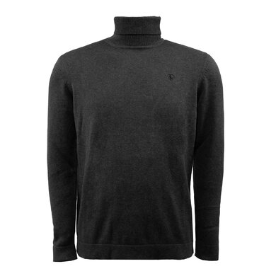 Eagle & Brown Turtleneck Trui Organic Cotton Donkergrijs antraciet uni