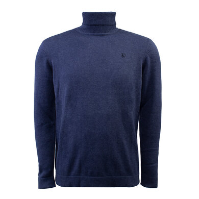Eagle & Brown Turtleneck Trui Organic Cotton Donkerblauw Donkerblauw