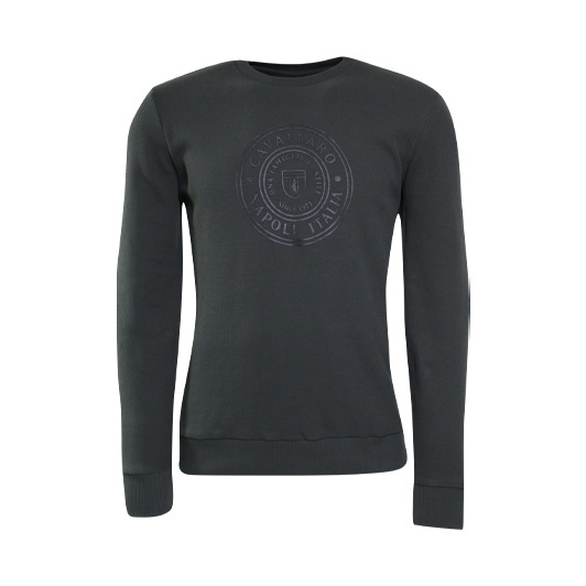 Cavallaro sweat ronde hals met logo Army Green