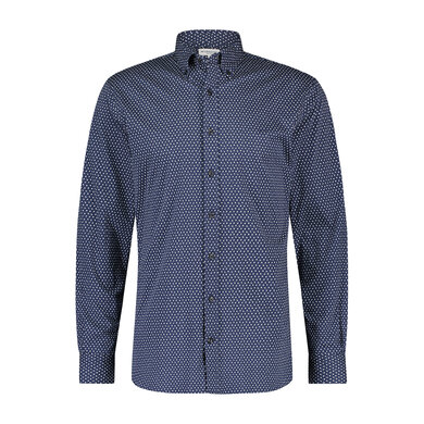 Regular fit jersey mini geo print shirt Ink Blue