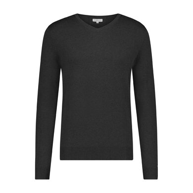 Essential V-neck Sweater in wool blend Black