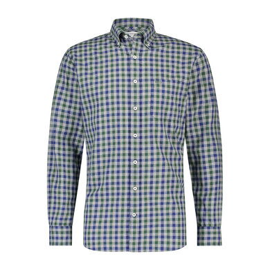 Regular fit melange check shirt Cypress Green