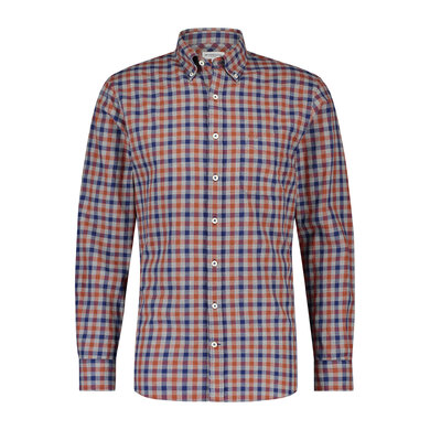 Regular fit melange check shirt Squash Orange