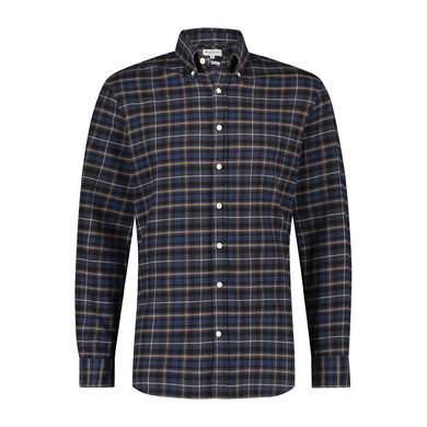 Regular fit plaid check shirt Night Blue