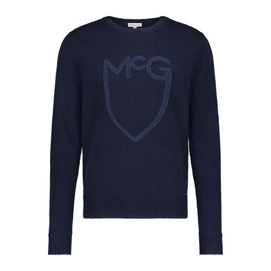 McGregor shield towel logo sweater Bright Navy