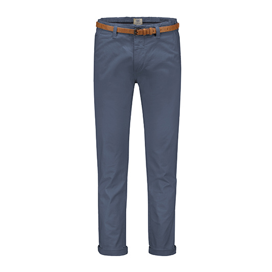 Dstrezzed chino katoen Medium blue