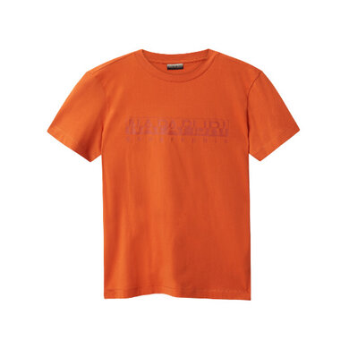 Napapijri t-shirt uni met logo Orange
