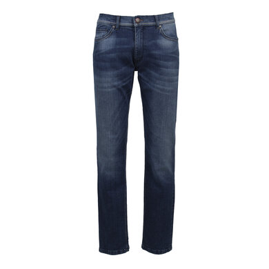 Eagle & Brown stretch biologisch denim jeans donkerblauw Donkerblauw