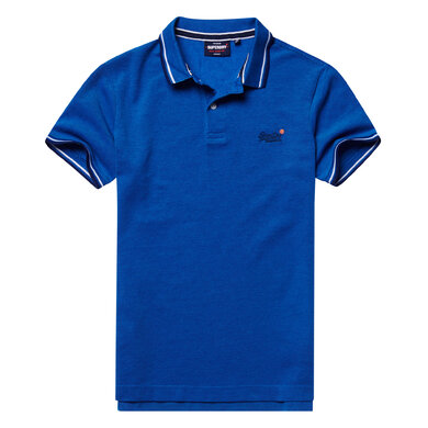 Superdry polo classic poolside pique Blauw