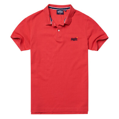 Superdry pique polo korte mouw classic Rood