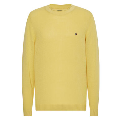 Tommy Hilfiger trui ultra lightweight cotton Geel