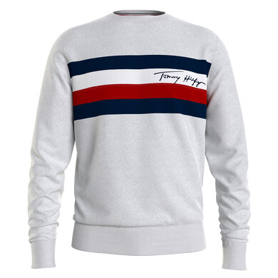 Tommy Hilfiger sweater wcc pique panel Licht grijs