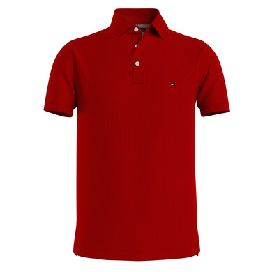 Tommy Hilfiger polo 1985 Donkerrood