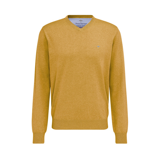 Fynch Hatton v-neck pullover Mustard
