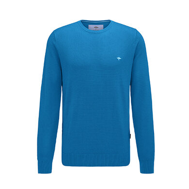 Fynch Hatton ronde hals pullover Royal Blue