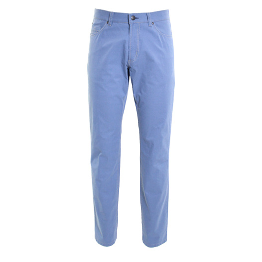Adam broek 5-pocket katoen stretch Mid blue