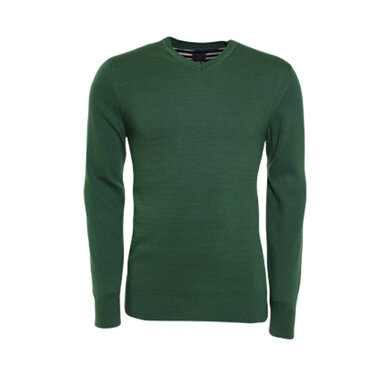 Eagle & Brown v-hals trui uni Green