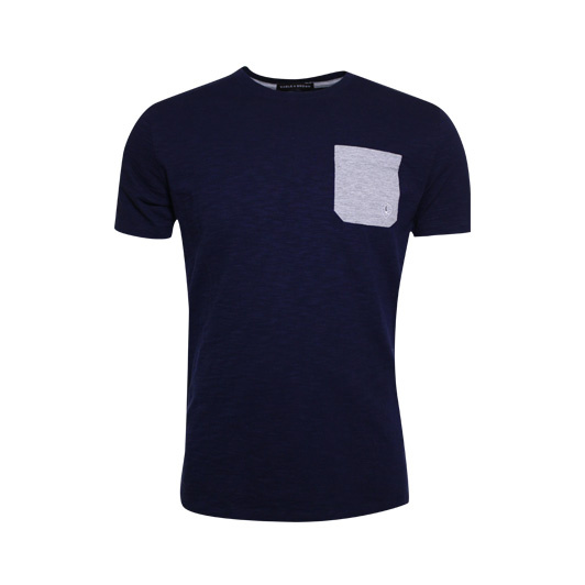 Eagle & Brown t-shirt uni Navy