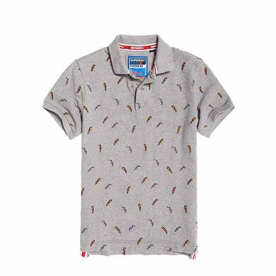 Superdry Polo print Light grey