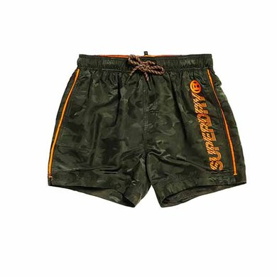 Superdry Swim Short Groen Print Dark green