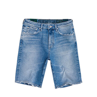 Superdry Short Slim jeans Light blue