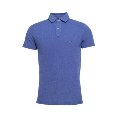 Tommy Hilfiger Polo structuur Bright blue
