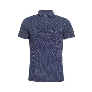 Tommy Hilfiger Polo structuur Light blue