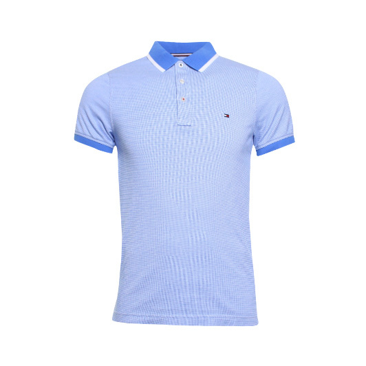 Tommy Hilfiger polo met structuur Blue