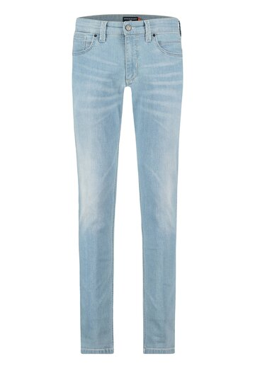State of Art stretch jeans middenblauw uni