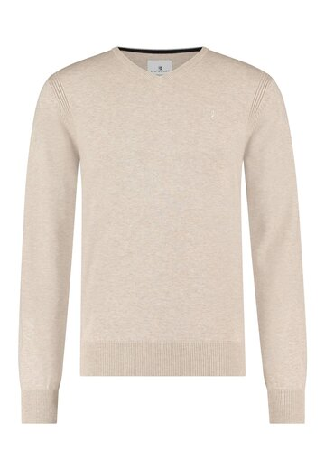 State of Art pullover met v-hals zand uni