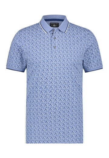 State of Art polo jersey print Blauw