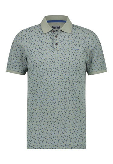 State of Art polo dessin oxford/piqué Groen