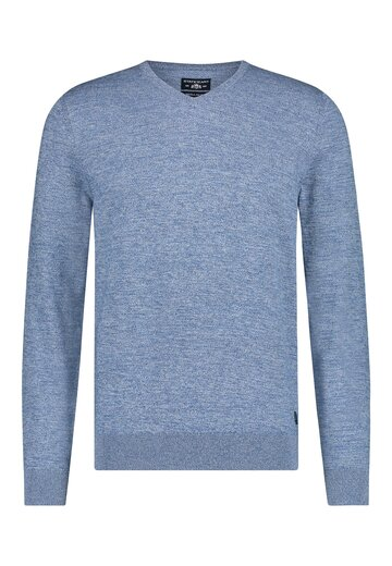 State of Art pullover mouliné middenblauw/grijsblauw